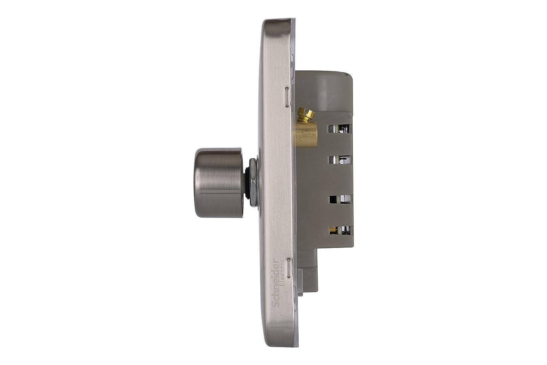 Schneider Electric Lisse Screwless Deco GGBL6032CLCS  Universal Dimmer 3 Gang 2 Way 250W//VA Light Copper