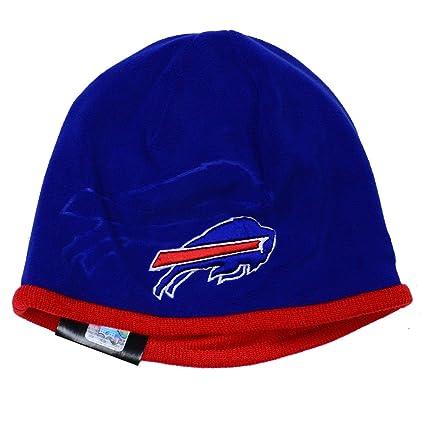 buy popular dd8f1 62d31 New Era Men s NFL 2015 Buffalo Bills Sideline Tech Knit Hat Blue Red Size  One