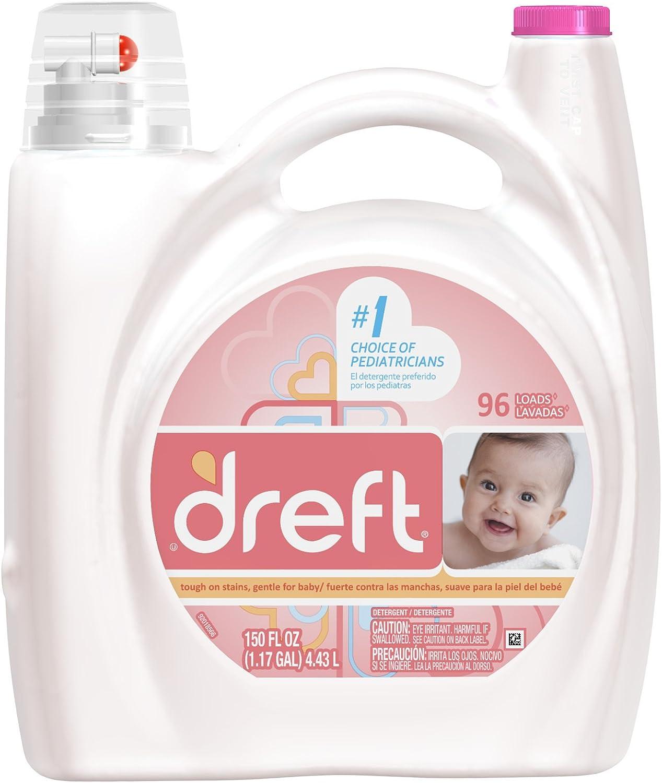 Dreft Concentrated Liquid Detergent 96 Loads 150 Fl Oz (Pack of 4)