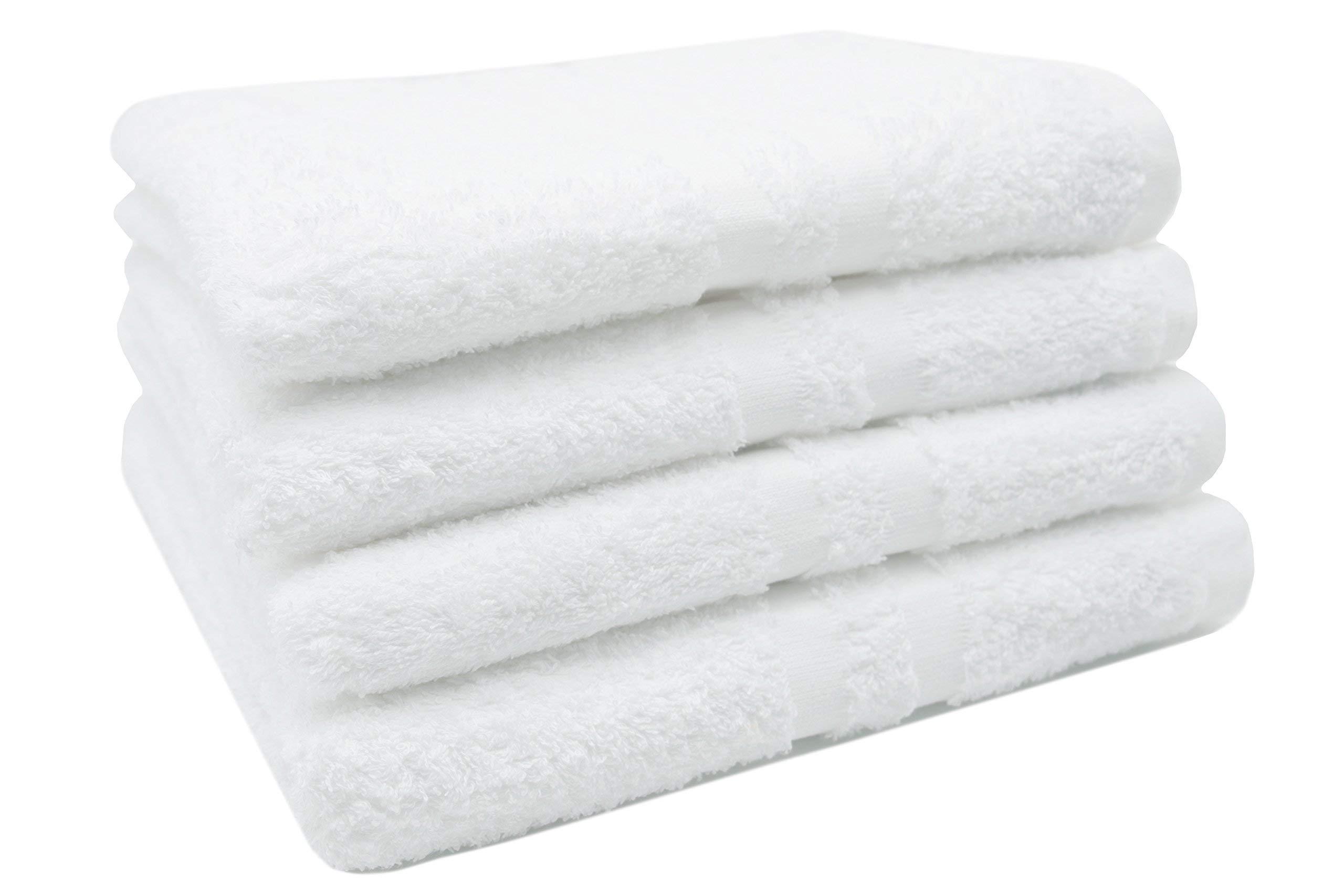 ZOLLNER 4 Toallas de Lavabo Blancas Grandes, algodón 100%, 50x100 cm product image