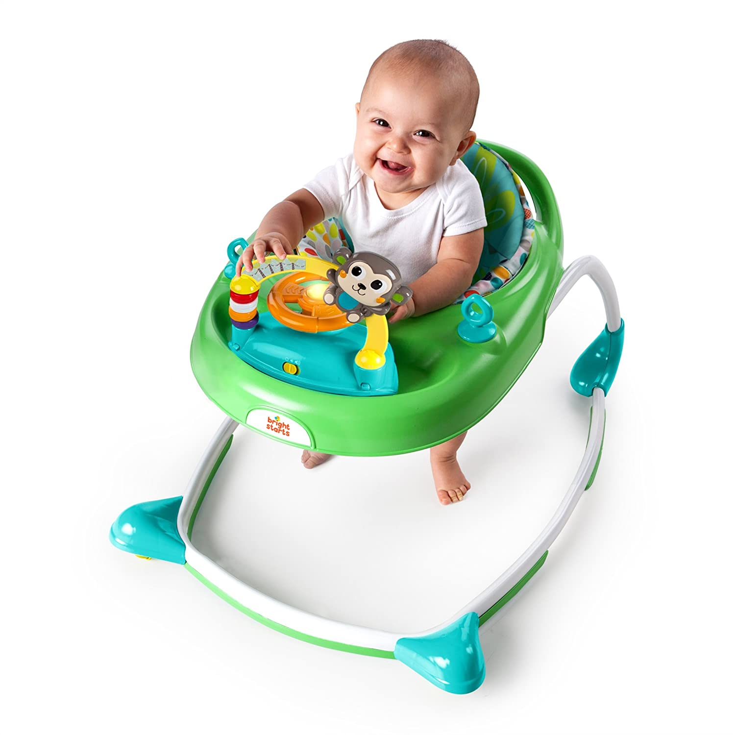 Amazon Bright Starts 2 in 1 Walkin Wild Walker Green Baby