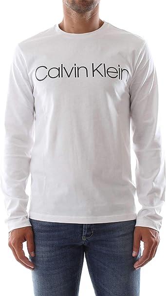 Calvin Klein Camiseta Logo Manga Larga Cuello Redondo ...