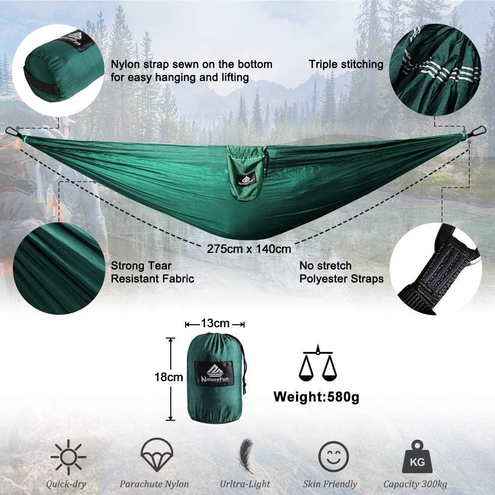 Hamac Bliss Triple parachute hammock 3 personne bleu//argent