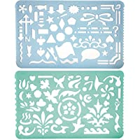 Yosogo Set Of 2 Artistic Drafting Art Templates Of Various Shapes And Designs For Artists And Art & Craft Projects By…