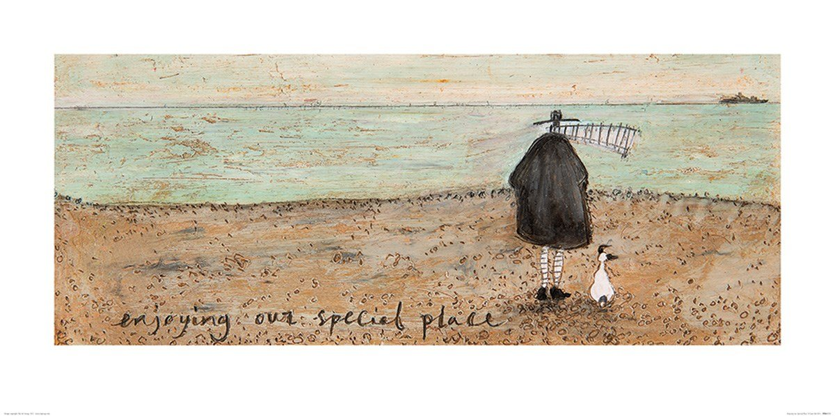 Art Group The Enjoying Our Special Place Sam Toft Print, Paper, Multi-Colour, 50 x 100 x 1.3 cm The Art Group PPR41173