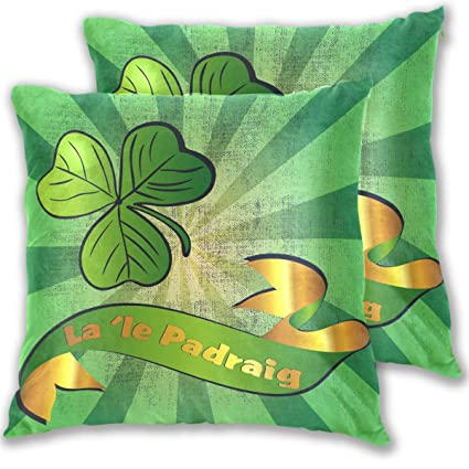 Amazon.com: Wamika St Patricks Day Shamrock Pillowcase ...