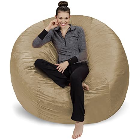 Amazing Sofa Sack Plush Ultra Soft Bean Bags Chairs For Kids Teens Adults Memory Foam Beanless Bag Chair With Microsuede Cover Foam Filled Furniture Andrewgaddart Wooden Chair Designs For Living Room Andrewgaddartcom