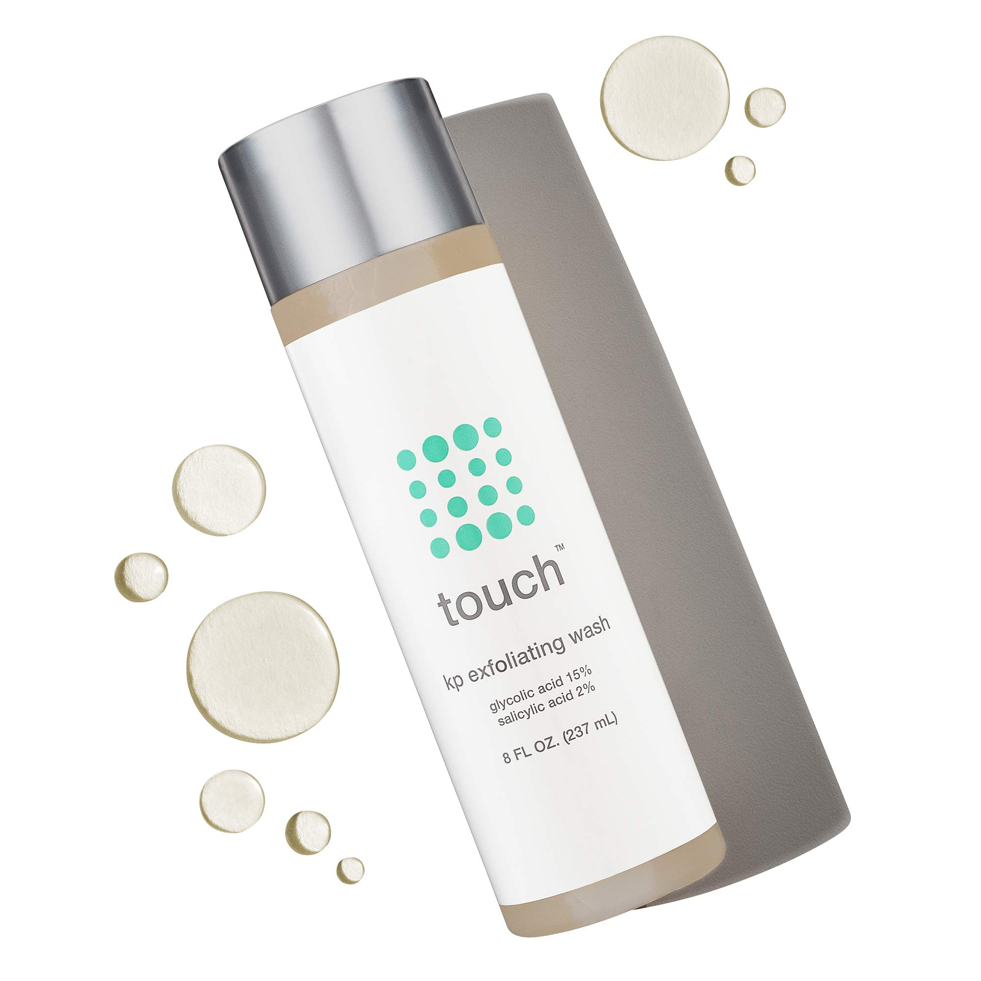 Touch Keratosis Pilaris & Acne Exfoliating Body Wash Cleanser - KP Treatment with 15% Glycolic Acid, 2% Salicylic Acid, Hyaluronic Acid - Smooths Rough & Bumpy Skin - Gets Rid Of Redness, 8 Ounce by TOUCH (Image #2)