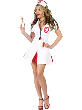 Amazon.com: Say Ahhh! Disfraz de enfermera sexy., MED-L ...