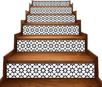 Estilo marroquí Tiras de vinilo Decal para Escalera Risers/Bordes de pared - Pelar y pegar - Autoadhesivo Pegatina - Salón/Cocina/Baño Decoración para el Hogar Bricolaje - Paquete de 5 tiras: Amazon.es: Bricolaje