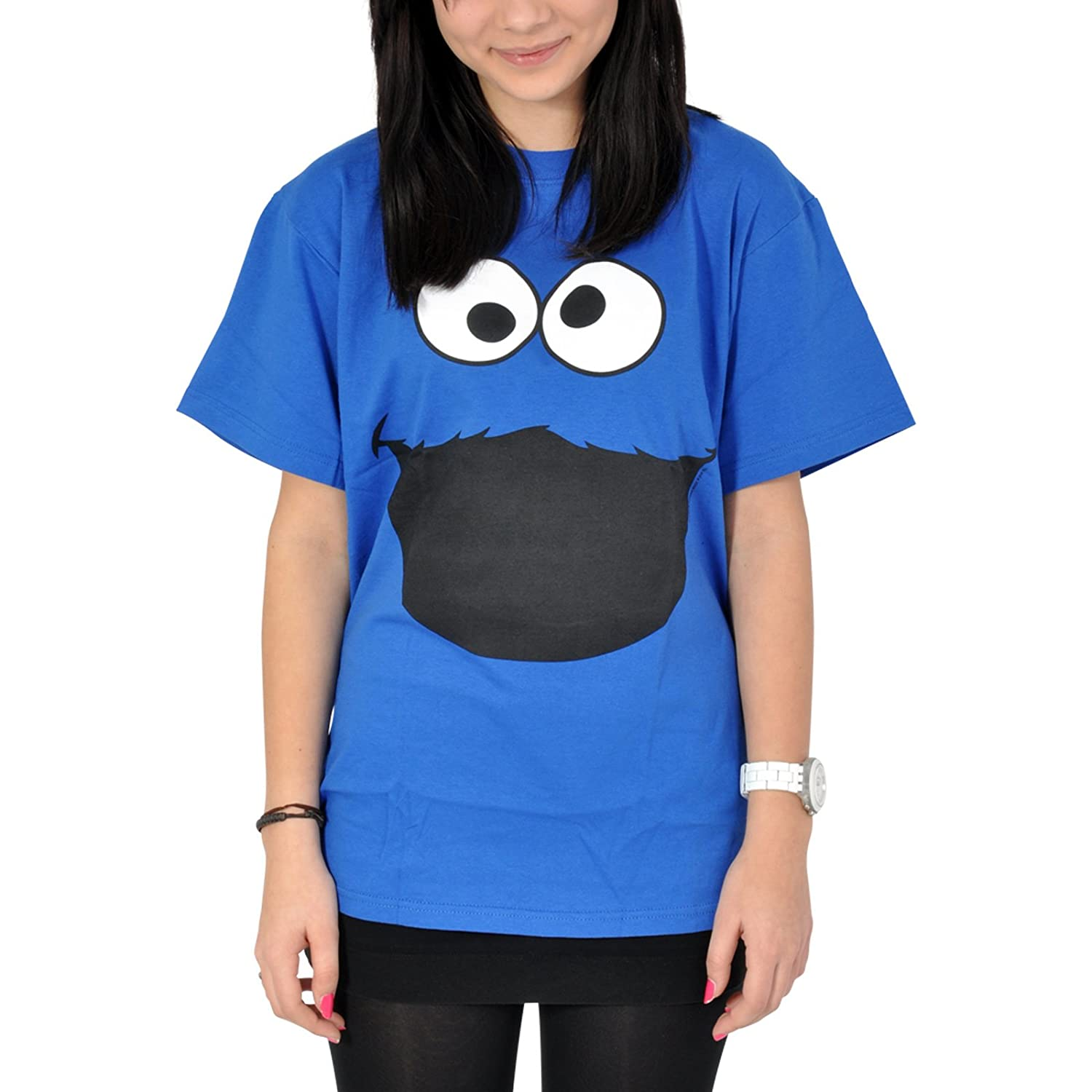 SESAME STREET T SHIRT COOKIE MONSTER FACE Amazon Clothing