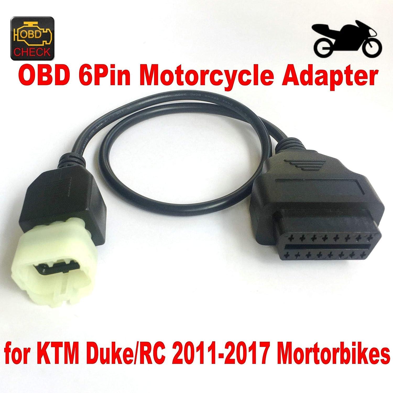 Goldplay 6pin Motorcycle OBD OBD2 16Pin Motorbike adapter interface