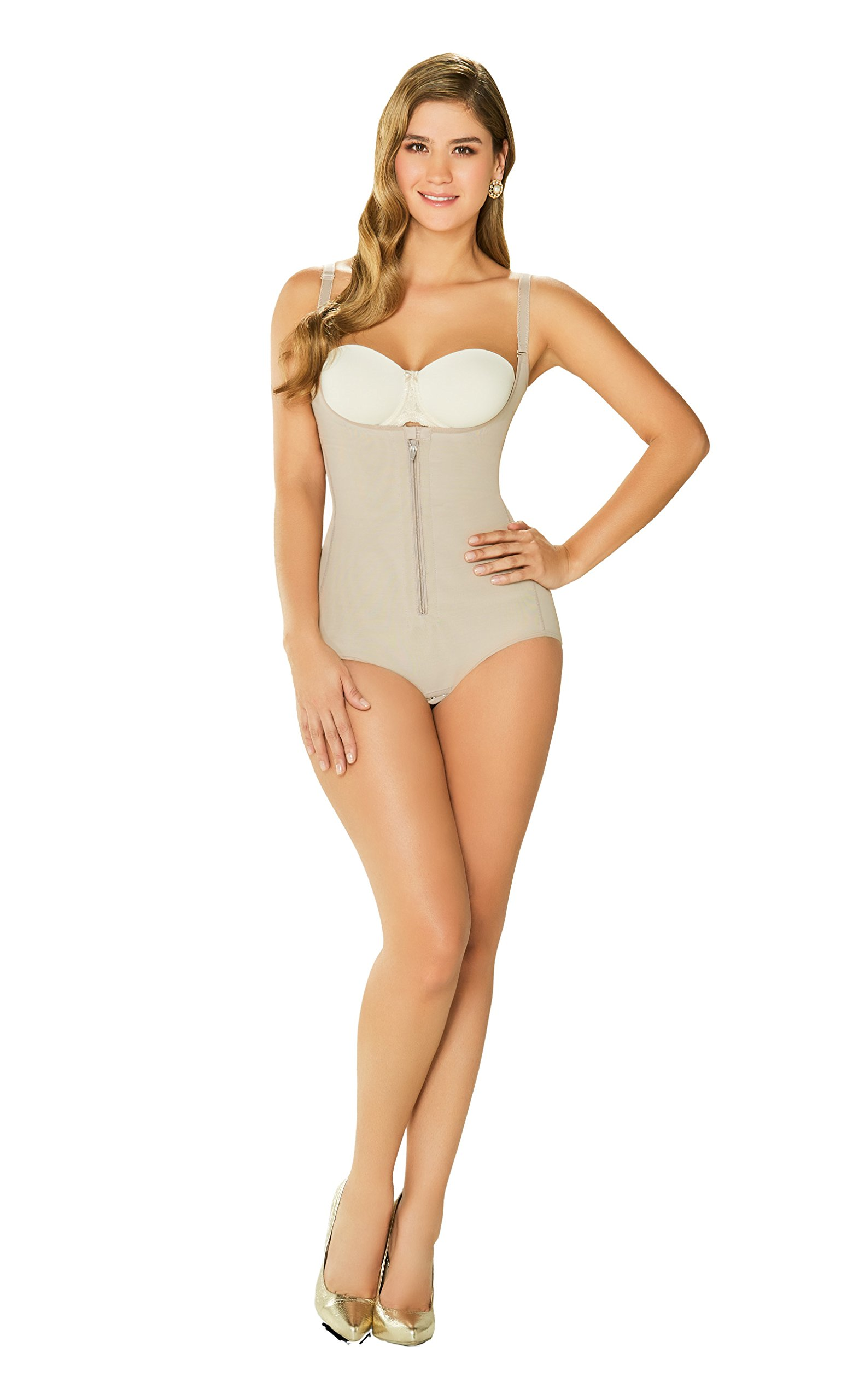 DIANE & GEORDI 2411 Strapless Tummy Control Shapewear for Women Fajas Colombianas