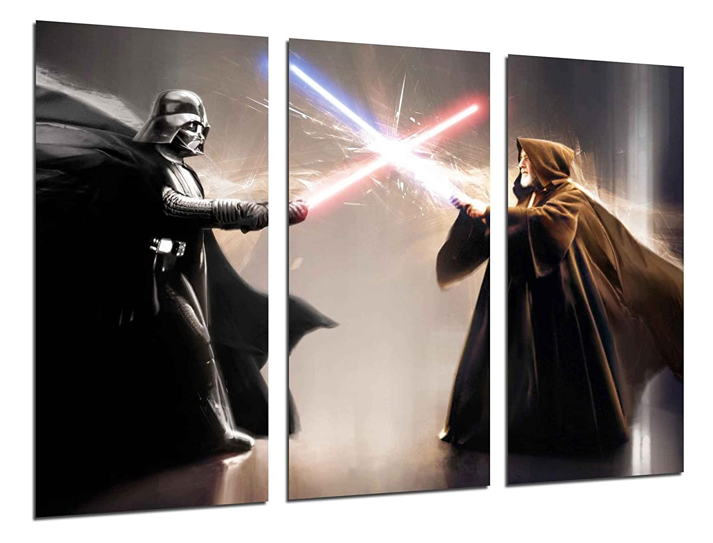 Cuadros Camara MULTI Wood Printings Art Print Box Framed Picture Wall Hanging - Star Wars, Darth Vader, (Total Size: 38,2