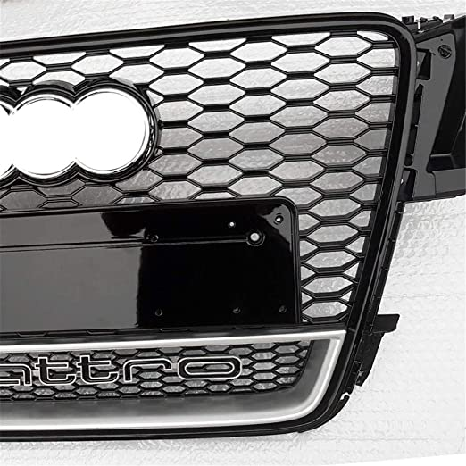 Xinshuo ABS Wabenart Mesh K/ühlergrill vorne f/ür RS5 Style A5 S5 2008-2011