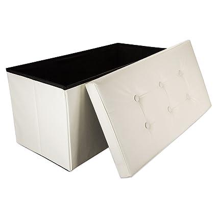 Intirilife - 78 x 38 x 38 cm Caja de Almacenaje Banco Plegable de ...