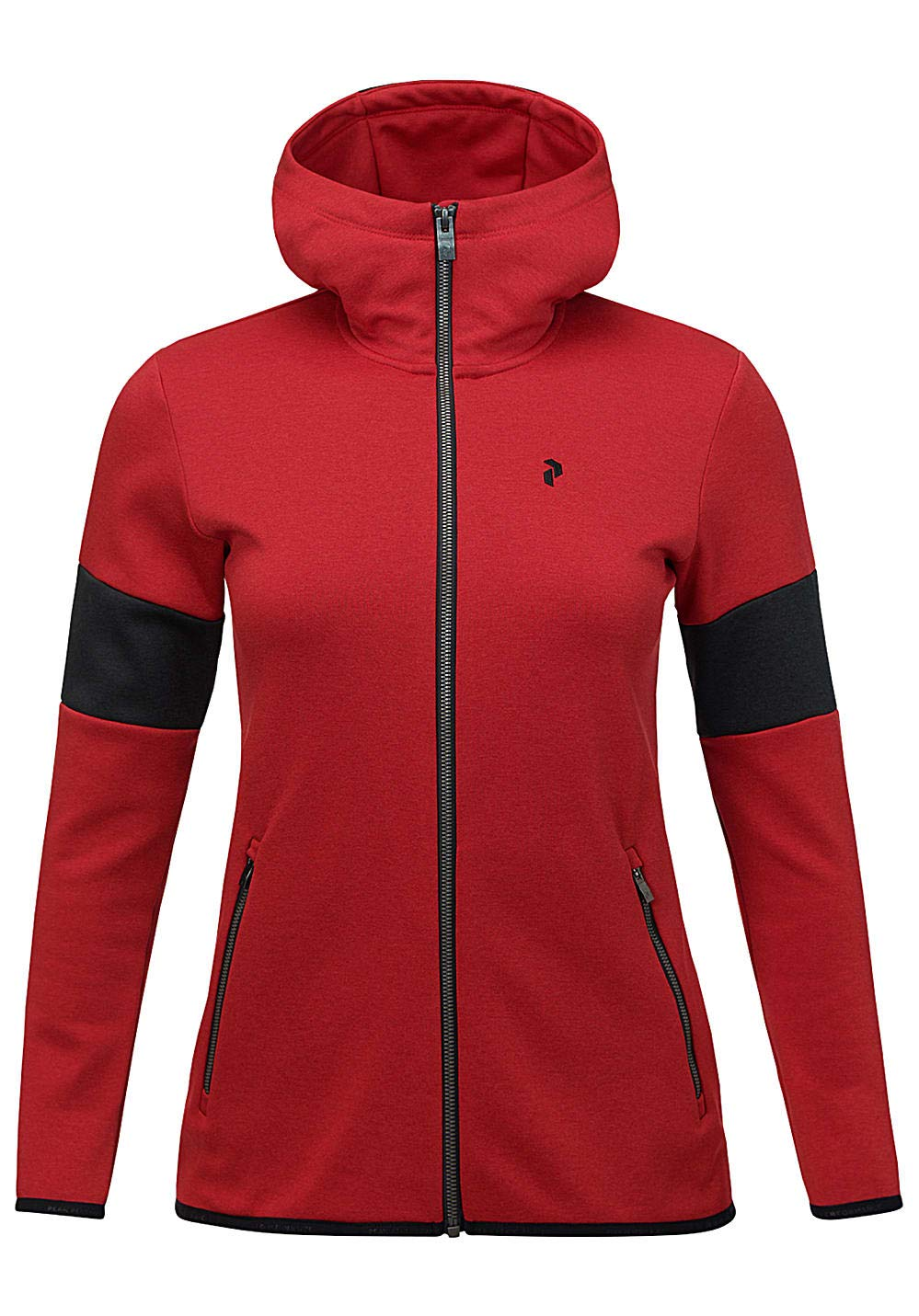 Peak Performance W Breck Zip Hood Chilli Pepper