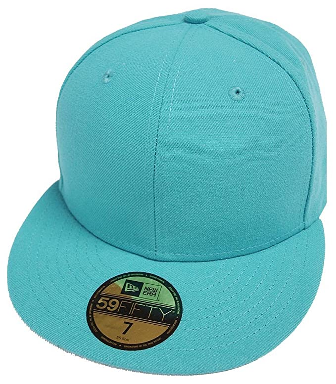 fecd6d83 New Era Teal Türkis Blanc Blank 59fifty 5950 Fitted Cap Kappe Men at Amazon  Men's Clothing store:
