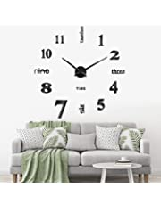 b384776f3c2f SOLEDI Reloj de Pared 3D DIY Reloj de Etiqueta de Pared Decoración Ideal  para la Casa