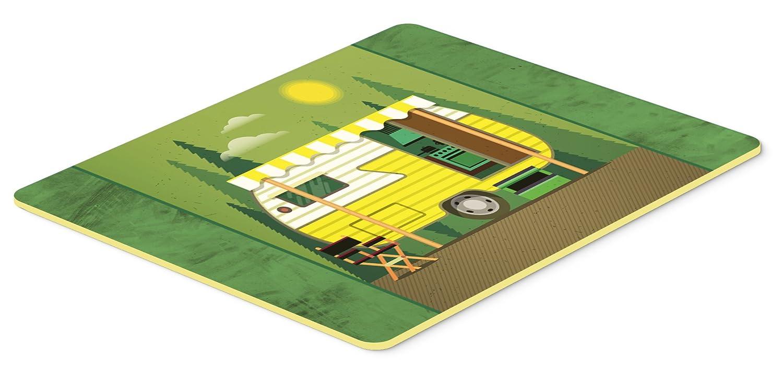 Caroline\'s Treasures Greatest Adventure Retro Camper Kitchen or Bath Mat 20x30, 20Hx30W, Multicolor