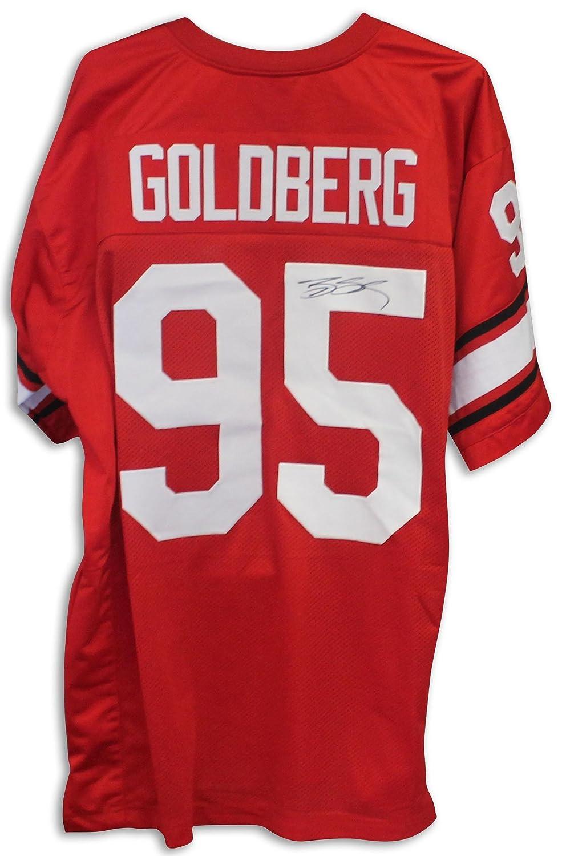 new product bb58c 5b9bb Bill Goldberg Autographed Jersey - Georgia Bulldogs Red ...