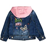 Peacolate 2-10Years Little Girls Sequin Coats Embroidery Denim Jacket