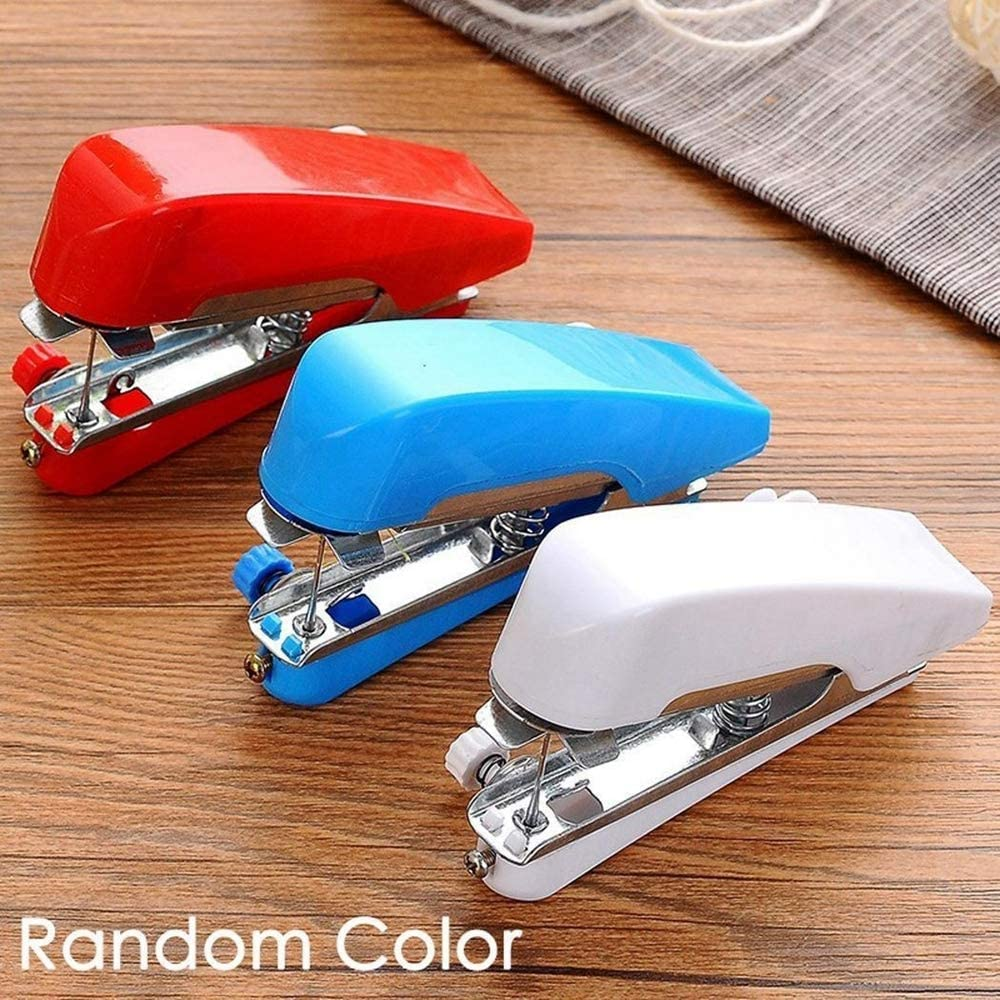 YH Mini máquina de Coser Manual, Bolsillo portátil inalámbrico Pequeña máquina de Coser Ropa de Tela Costura rápida Costura a Mano