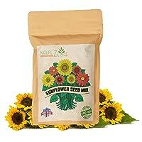 NatureZ Edge 1300+ Sunflower Seeds Variety Pack, Sunflower Seeds for Planting, Get...