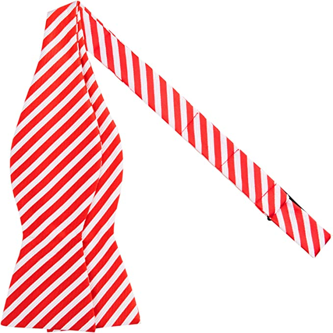 Jacob Alexander Kids Christmas Candy Cane Red White Stripe Suspenders