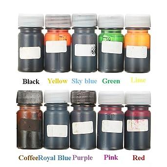 EsportsMJJ 10 Colores De Epoxy Resina Uv Dye Resina Colorante Pigmento Líquido Mezcla Colores Bricolaje Arte