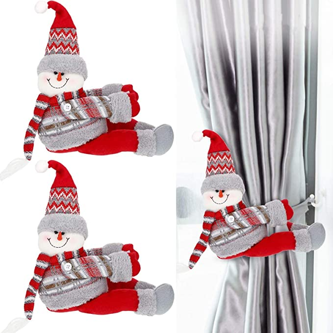 2pc Santa//Reindeer Holiday Winter Door Knob Hanger Decor Christmas Felt #XBB