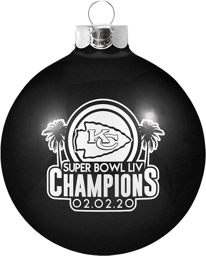 Kansas City Chiefs Super Bowl LIV 54 Champions Replica Football Ornament