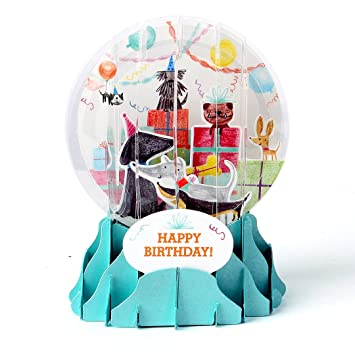 Amazon.com: 3d Pop Up Cards – Bola de nieve – tarjeta de ...