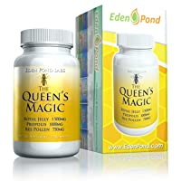 Eden Pond Queen's Magic Bee Pollen (Royal Jelly 1000mg, Propolis 750mg, Beepollen...