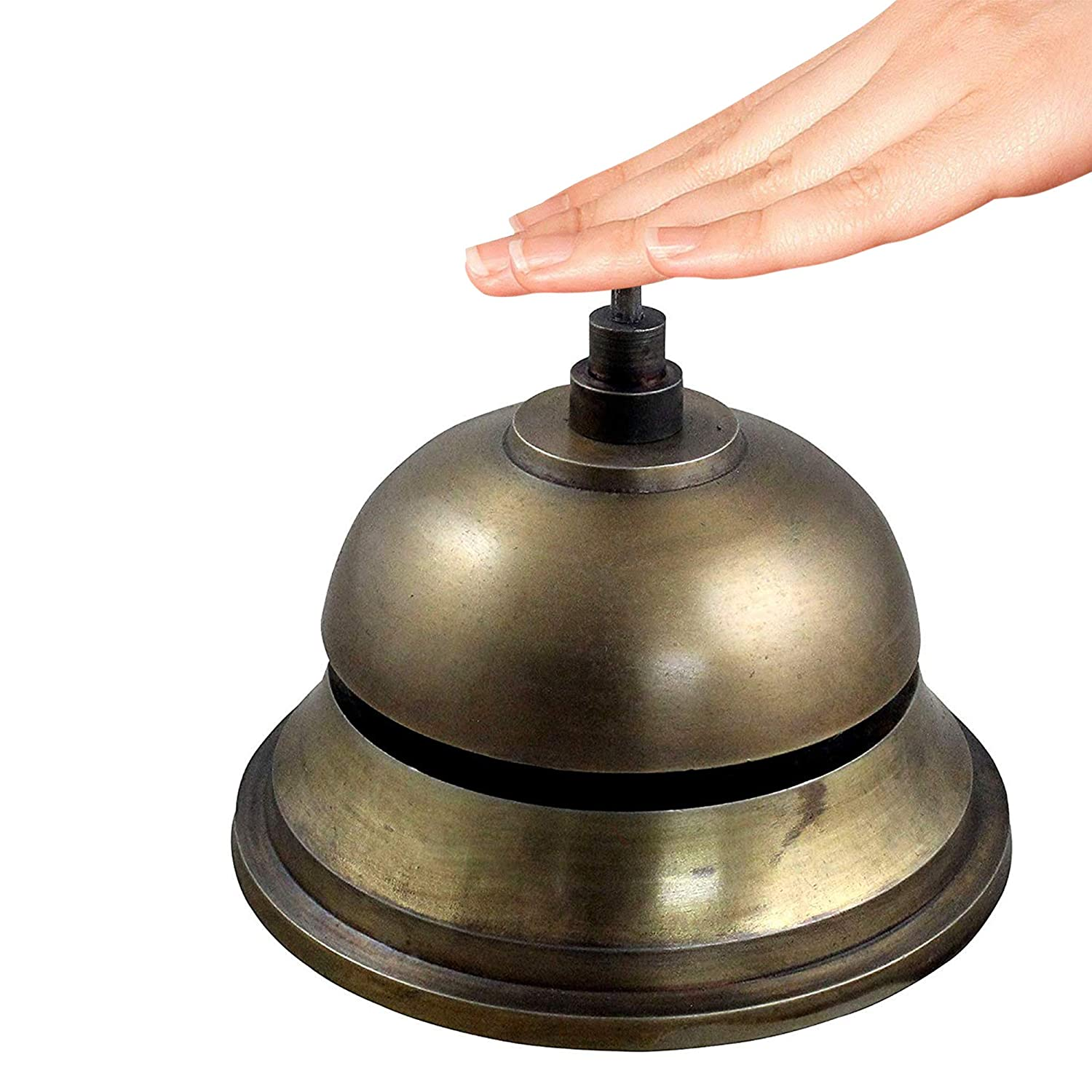 Restaurants RoyaltyRoute Office Desk Call Bell Metal Service RingBell Perfect for Hotels 5.3 Inches Length Schools Reception Areas Hospitals Warehouses