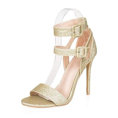 AIIT Women's Stiletto High Heel Sandal Pump Shoe: Shoes