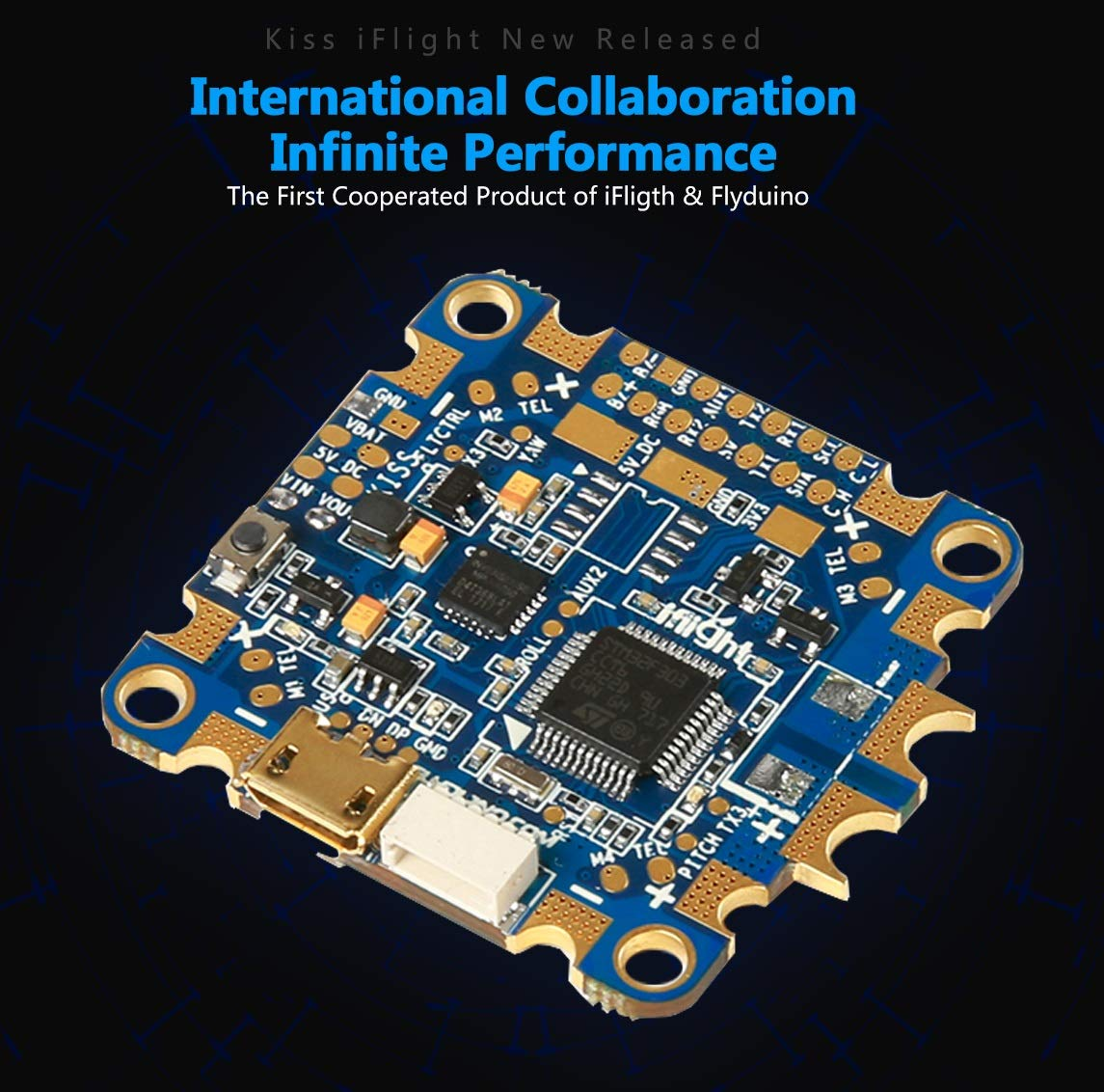 Kiss Iflight Flyduino Licensed Aio Flight Diy Make A Circuit Board Fly With This Cute Tiny Quadcopter Kit Controller Fc Integrated Osd For Fpv Racing Drone Toys Games