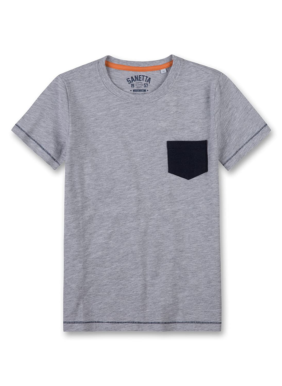 Sanetta Boy's Pyjama Top Grey (Hellgrau Melange 1646) 8 Years 243879