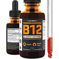 Vitamin B12 Liquid Sublingual Drops - Vegan B12 5000 mcg - for Boost Energy -...