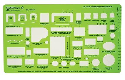 Alvin TD7151 House Furniture Template