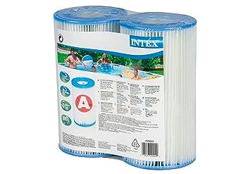 Intex 29002 - Cartucho para filtros para piscinas, 2 unidades: Amazon.es: Jardín