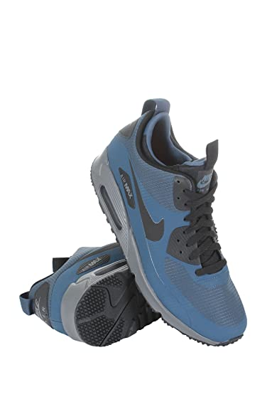 2d9f0542a0d Nike Men s Air Max 90 Mid Winter Blue Black 806808-400 squadron blue dark  grey bright citrus black 13 D(M) US  Amazon.in  Shoes   Handbags