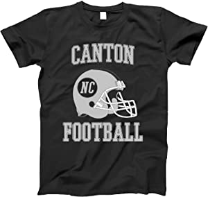 4INK Vintage Football City Canton Shirt for State North Carolina with NC on Retro Helmet Style
