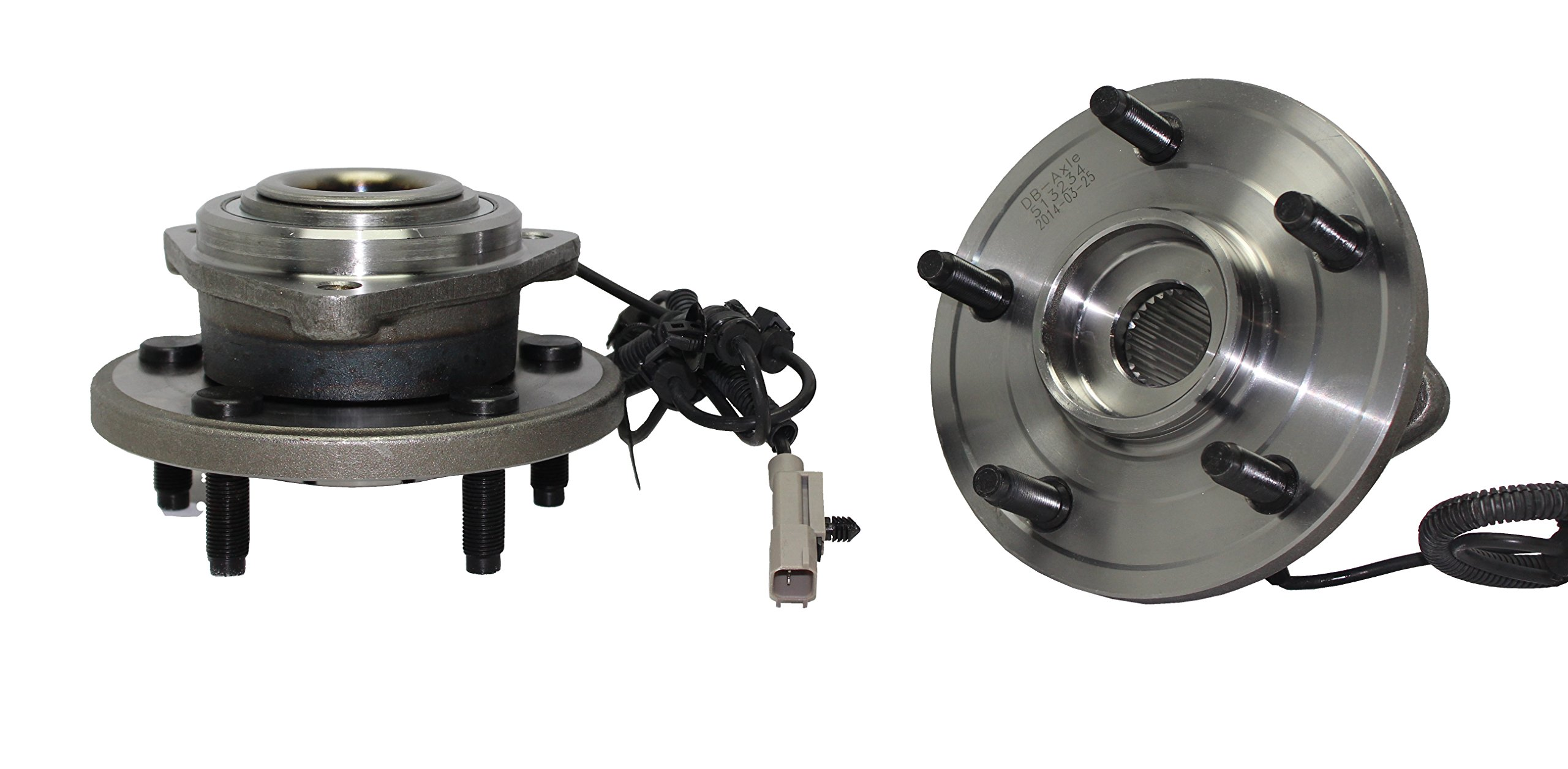 Detroit Axle - Brand New (Both) New Front Passenger & Driver Wheel Hub and Bearing Assembly Fits 2006 2007 2008 2009 2010 Jeep Commander and 2005-2010 Grand Cherokee With ABS Wire 513234 by Detroit Axle