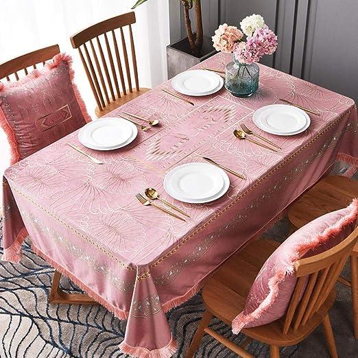 QIGE Manteles Mantel Mesa Diseño De Cumpleaños Rosa Mantel ...