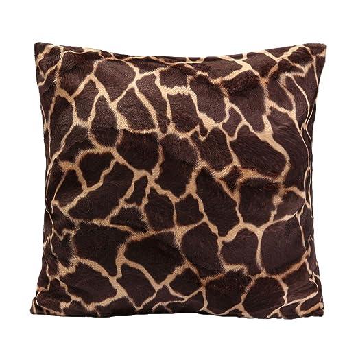 45x45cm Cubierta Funda Leopardo Cebra Impreso para Almohada Cojín Amortiguador de Sofá #04