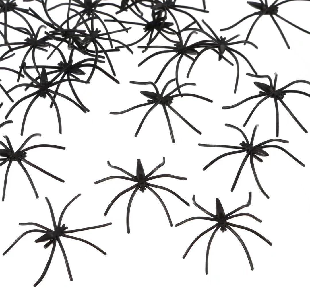 Liroyal Noir araign/ées Horreur Halloween Butin Toys Sprinkles