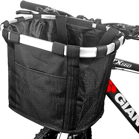 Funsport Cesta delantera para bicicleta plegable y desmontable ...