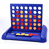 Classic Connect 4 Board Game, Travel Foldable Line Up 4 In A Row Game For Kids Children Games , Fun Popular Educational Giant Four Five in a Row Family Desktop Puzzle Games (Small Size)
