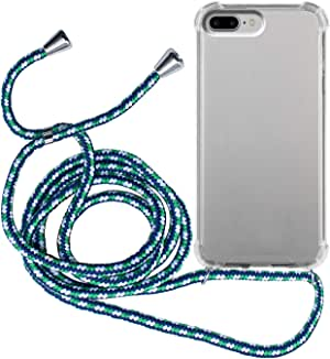 MyGadget Funda Transparente con Cordón para Apple iPhone 7 Plus / 8 Plus: Amazon.es: Electrónica